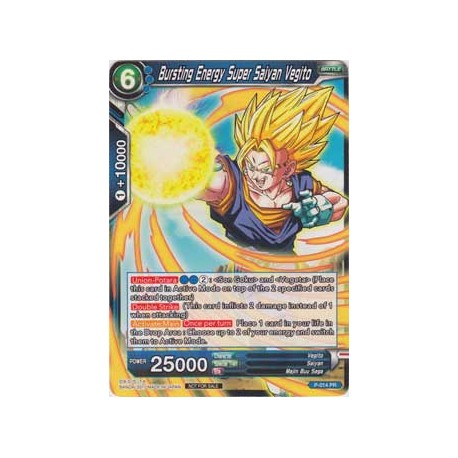 Bursting Energy Super Saiyan Vegito (Non-Foil Version) - P-014